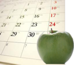 One whole day calendar apple